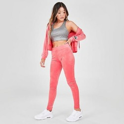 Juicy Couture Women's Juicy Sport Velour Leggings in Pink/Juicy Pink Size X-Small Polyester/Spandex/Velour found on MODAPINS from Finish Line for USD $65.00