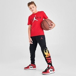 Jordan Boys' Jumpman Flame Jogger Pants in Black Size X-Large Cotton/Polyester/Fleece found on Bargain Bro India from Finish Line for $45.00