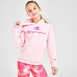 Champion Girls' Script Pullover Hoodie in Pink Size Small Fleece/Knit found on Bargain Bro India from Finish Line for $32.00