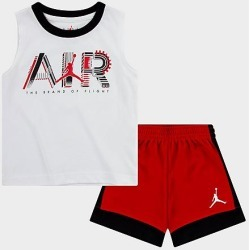 Jordan Boys' Toddler Jordan by Air Tank Top and Shorts Set in White/Red Size 3 Toddler Cotton found on MODAPINS from Finish Line for USD $38.00