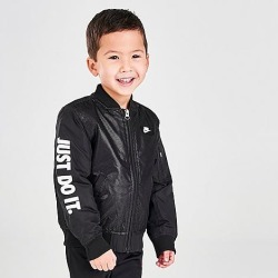 Nike Boys' Toddler JDI Bomber Jacket in Black Size 4 Toddler 100% Polyester found on Bargain Bro India from Finish Line for $85.00