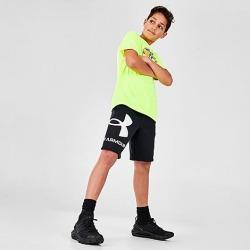 Under Armour Boys' UA Fleece Big Logo Shorts in Black/Black Size Medium Cotton/Polyester/Fleece found on Bargain Bro Philippines from Finish Line for $30.00