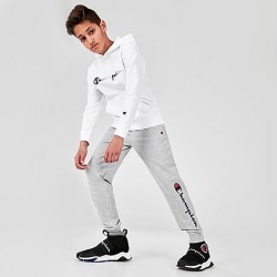 Champion Kids' Script French Terry Jogger Pants in Grey/Oxford Heather Size Small Cotton/Polyester found on Bargain Bro Philippines from Finish Line for $28.00
