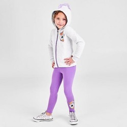 Converse Girls' Little Kids' Unicorn Full-Zip Hoodie and Leggings Set in Purple Size 4 Cotton/Polyester/Knit found on Bargain Bro India from Finish Line for $55.00