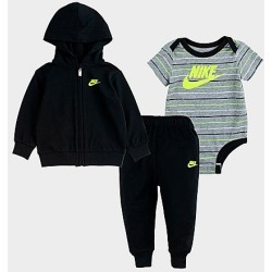 Nike Boys' Infant Striped 3-Piece Full-Zip Hoodie and Jogger Pants Set in Black Size 18 Month Cotton/Polyester/Knit found on Bargain Bro India from Finish Line for $48.00