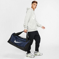 Nike Brasilia Medium Training Duffel Bag in Blue/Midnight Navy Polyester found on Bargain Bro from Finish Line for USD $30.40
