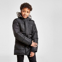 Sonneti Boys' Reflective Parka Jacket in Black Size X-Large found on Bargain Bro India from Finish Line for $50.00