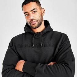 Superdry Men's Sport Emboss Hoodie in Black Size 2X-Large Fleece found on Bargain Bro India from Finish Line for $64.95