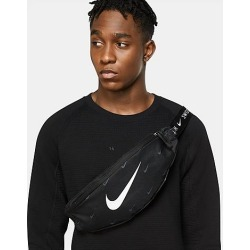 Nike Heritage Swoosh Hip Pack in Black/Black 100% Polyester found on Bargain Bro from Finish Line for USD $19.00