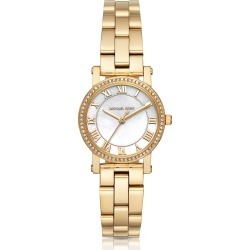 Michael Kors Designer Women's Watches, Petite Norie Gold-tone Stainless Steel Women's Watch found on Bargain Bro UK from FORZIERI.COM (UK)