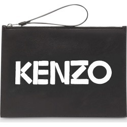 Kenzo Designer Handbags, Kontrast Black Leather Large Pouch found on Bargain Bro UK from FORZIERI.COM (UK)