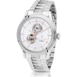 Maserati Designer Men's Watches, Tradizione Silver Tone Stainless Steel Men's Bracelet Watch found on Bargain Bro Philippines from Forzieri for $559.00