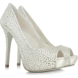 Loriblu Designer Shoes, Ivory Satin Platform Open Toe Pump found on MODAPINS from FORZIERI  AU for USD $372.04