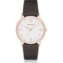 Emporio Armani Designer Men's Watches, Kappa Rose Gold Tone Stainless Steel Leather Men's Watch found on Bargain Bro Philippines from Forzieri for $220.00