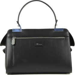 Blumarine Designer Handbags, Vivienne Black Leather Top Handle Bag found on Bargain Bro UK from FORZIERI.COM (UK)