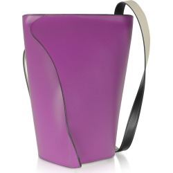 Giaquinto Designer Handbags, Layla Orchidea-Egret Shoulder Bag found on MODAPINS from Forzieri for USD $267.20