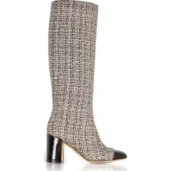 Rodo Designer Shoes, Tweed and Black Patent Leather Heel Boots found on Bargain Bro Philippines from Forzieri for $417.50