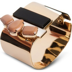 Egotique Designer Bracelets, Arlequin Golden Brass Cuff w/Nude Crystals found on Bargain Bro UK from FORZIERI.COM (UK)