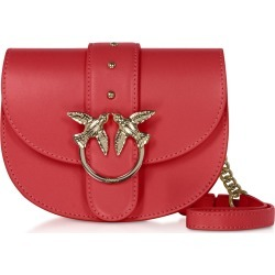 Pinko Designer Handbags, Red Go Round Baby Simply Shoulder/Belt Bag found on Bargain Bro UK from FORZIERI.COM (UK)