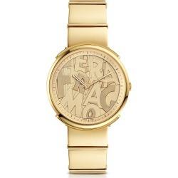 Salvatore Ferragamo Designer Women's Watches, Logomania Gold IP Sunray Stainless Steel Women's Watch w/Ferragamo Lettering Dial found on Bargain Bro Philippines from Forzieri for $1045.00