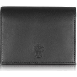 Pineider Designer Small Leather Goods, Power Elegance Double Black Leather Card Holder found on Bargain Bro Philippines from FORZIERI  AU for $221.07