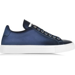 Jil Sander Shoes, Blue Satin Lace Up Sneaker