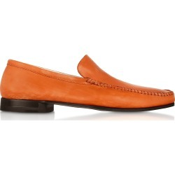 Pakerson Designer Shoes, Orange Italian Handmade Leather Loafer Shoes found on Bargain Bro Philippines from Forzieri for $411.00