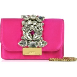 Gedebe Designer Handbags, Satin Mini Cliky Clutch found on MODAPINS from Forzieri for USD $364.00