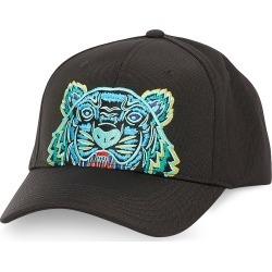 Kenzo Designer Men's Hats, Black Kanvas Tiger Baseball Cap
