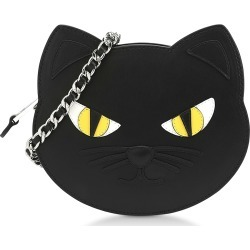 Moschino Designer Handbags, Black Calf Leather Cat Shoulder Bag found on Bargain Bro Philippines from Forzieri for $679.00