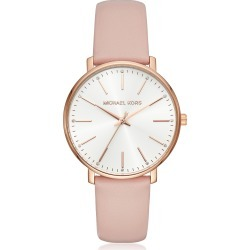 Michael Kors Designer Women's Watches, Michael Kors Women's Rose Gold-Tone and Blush Leather Pyper Watch found on Bargain Bro UK from FORZIERI.COM (UK)