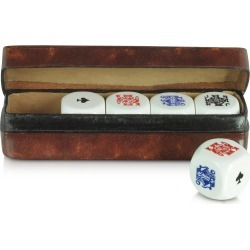 Forzieri Designer Small Leather Goods, Poker Dice with Leather Carrying Case found on Bargain Bro Philippines from Forzieri for $139.00