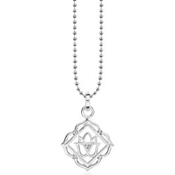 Thomas Sabo Designer Necklaces, Root Chackra Sterling Silver Necklace w/White Zirconia