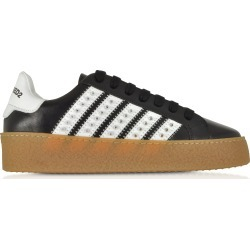 DSquared2 Designer Shoes, Black Studded Leather Women's Sneakers found on Bargain Bro Philippines from Forzieri for $330.00