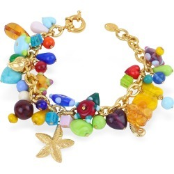 Antica Murrina Designer Bracelets, Marilena - Murano Glass Marine Gold Plated Bracelet found on Bargain Bro UK from FORZIERI.COM (UK)