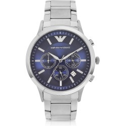 Emporio Armani Designer Men's Watches, Men's Blue Dial Stainless Steel Chrono Watch found on Bargain Bro Philippines from Forzieri for $398.00