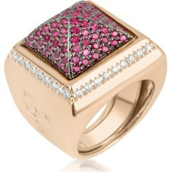 Azhar Designer Rings, Pink Cubic Zirconia Square Ring found on Bargain Bro UK from FORZIERI.COM (UK)