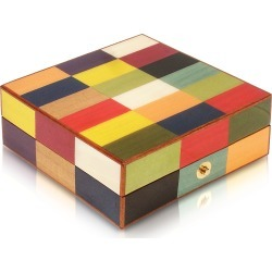 Forzieri Jewelry Boxes, Multicolor Inlaid Wood Jewelry Box