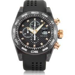 Locman Designer Men's Watches, Stealth 300mt Black/Gold Carbon Fiber and Titanium Quartz Movement Men's Chronograph Watch found on Bargain Bro UK from FORZIERI.COM (UK)