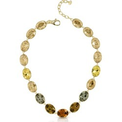 Forzieri Designer Necklaces, Golden Crystal Necklace