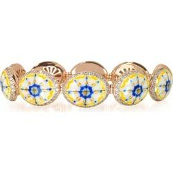 Azhar Designer Bracelets, Capri Silver, Zircon and Enamel Bracelet found on Bargain Bro UK from FORZIERI.COM (UK)