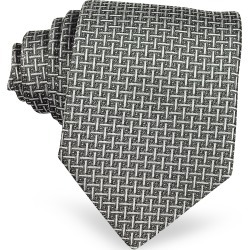 Forzieri Designer Ties, Silver Ceremony Silk Tie found on Bargain Bro UK from FORZIERI.COM (UK)