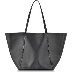 Linda Farrow Designer Handbags, Black Ayers and Calf Leather Tote found on MODAPINS from Forzieri for USD $1100.00