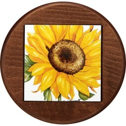 Spigarelli Designer Kitchen & Dining, Sunflower Ceramic and Wood Trivet found on Bargain Bro UK from FORZIERI.COM (UK)