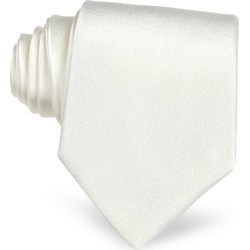Forzieri Designer Ties, White Solid Silk Tie found on Bargain Bro UK from FORZIERI.COM (UK)