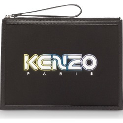 Kenzo Designer Handbags, Black Kombo Large Pouch found on Bargain Bro UK from FORZIERI.COM (UK)