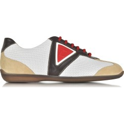 A.Testoni Shoes, Multicolor Leather and Suede Sneaker