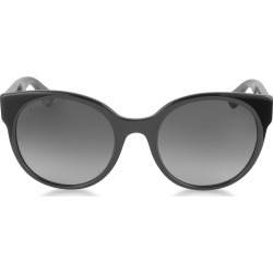 Gucci Designer Sunglasses, GG0035S 001 Black Optyl Round Women's Sunglasses found on Bargain Bro India from FORZIERI  AU for $268.05