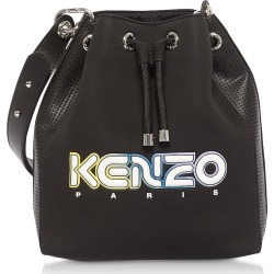Kenzo Designer Handbags, Black Kombo Bucket Bag found on Bargain Bro UK from FORZIERI.COM (UK)