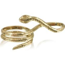 Bernard Delettrez Designer Rings, Two Fingers Bronze Ring w/3 Laps Snake found on Bargain Bro UK from FORZIERI.COM (UK)